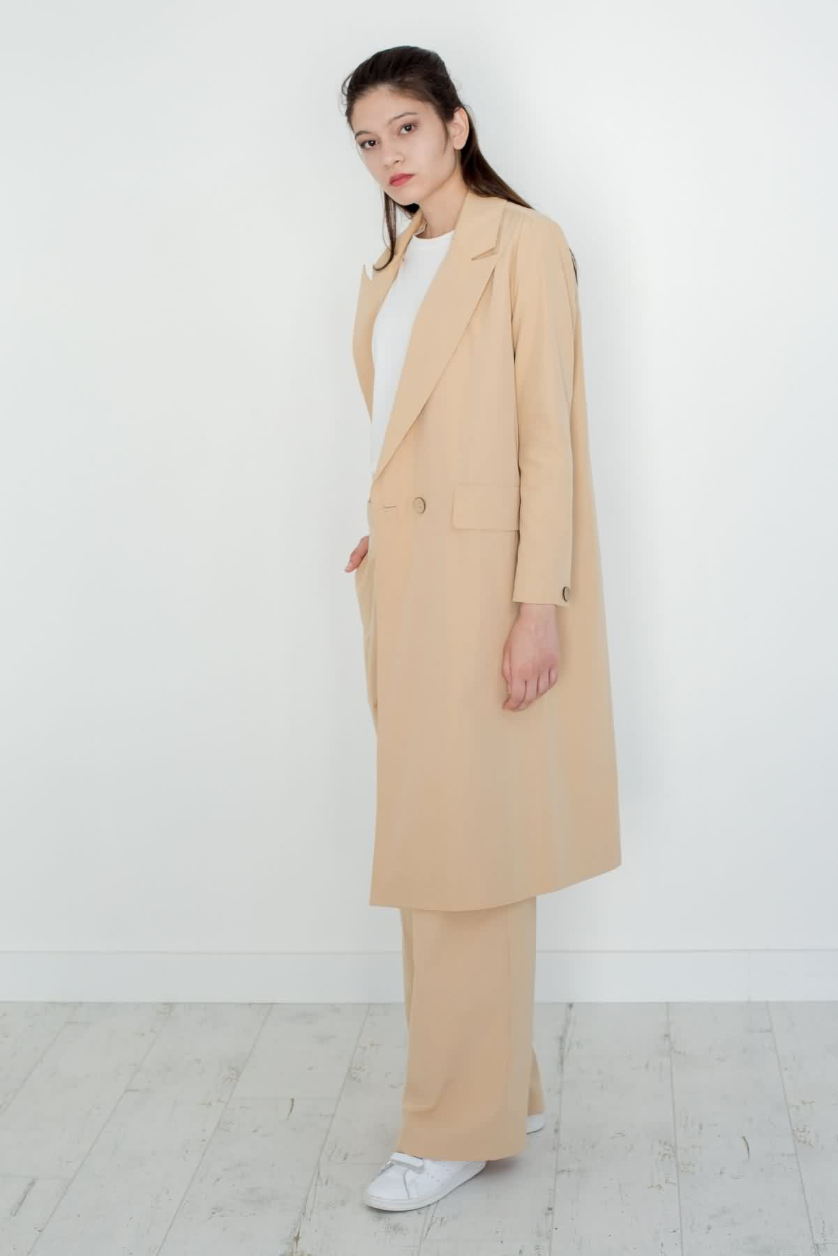 Mevra - Uzun Astarlı Ceket Bej