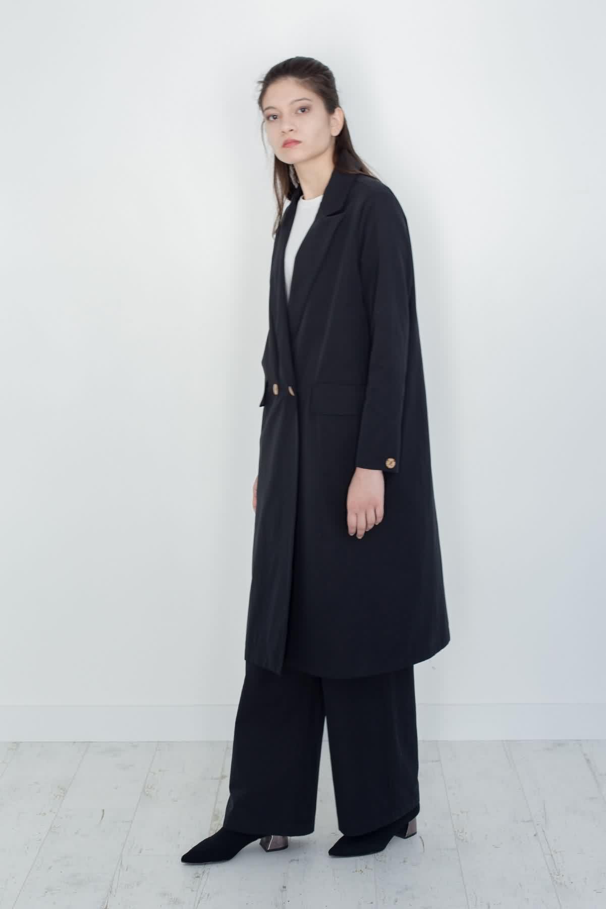 Mevra - Uzun Astarlı Ceket Siyah