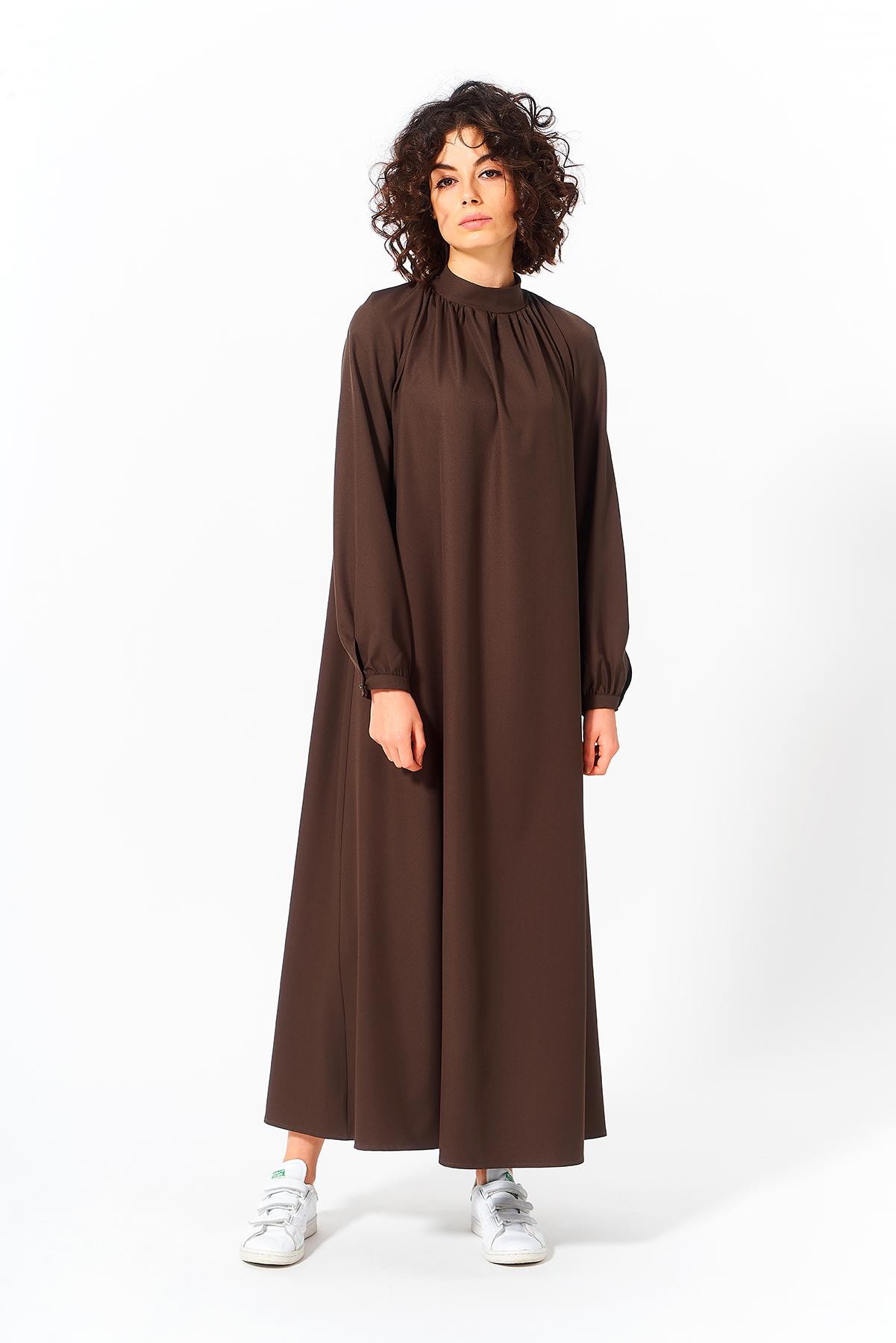 Mevra - Uzun Elbise Haki