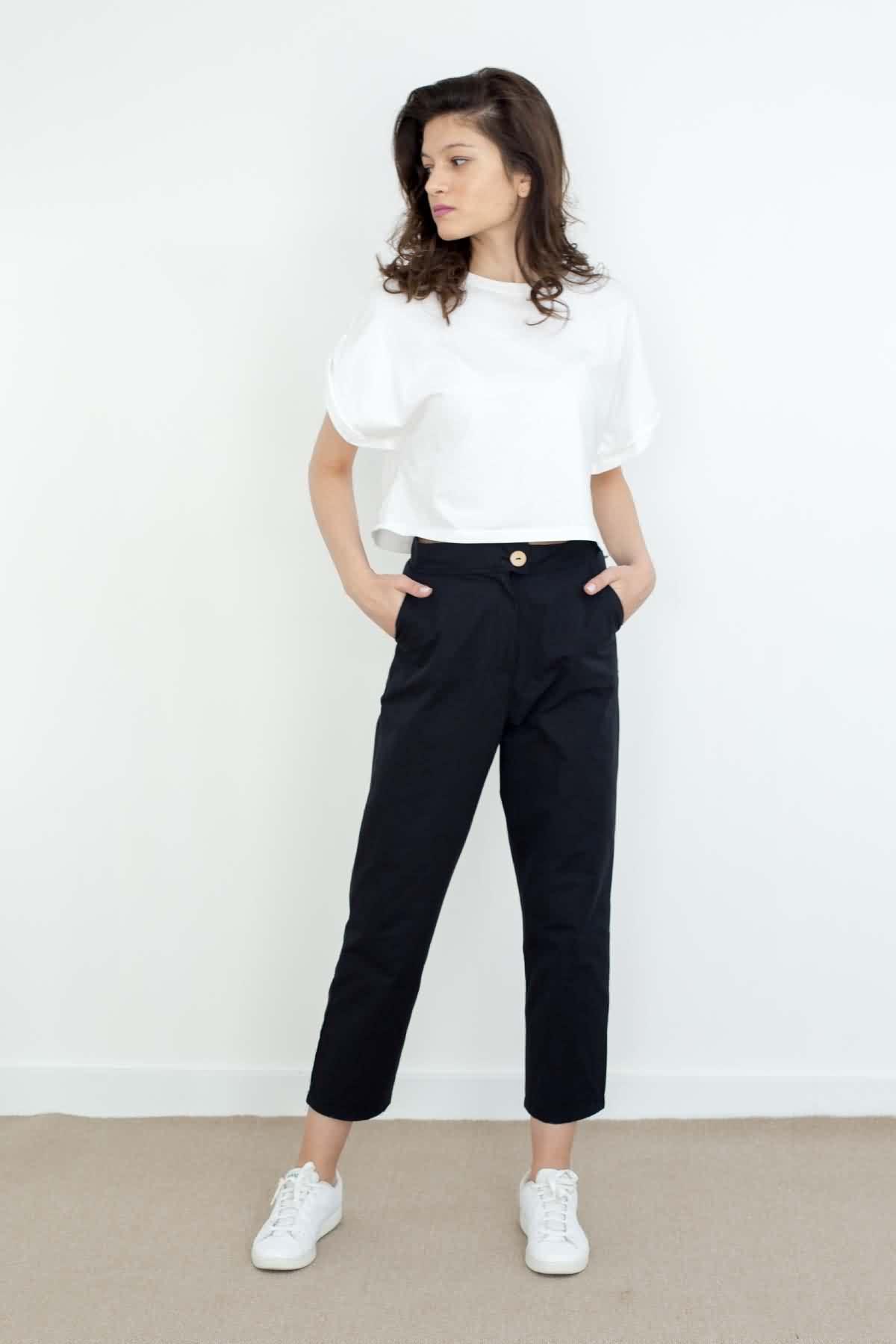 Mevra - Yüksek Bel Pantolon Siyah